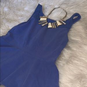 Blue Peplum top